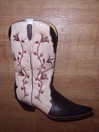 Buffalo Boots Gr. 39 Imitat Echse braun