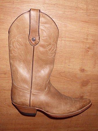 Malboro Boots Gr.40 = 42 Fettleder Beige
