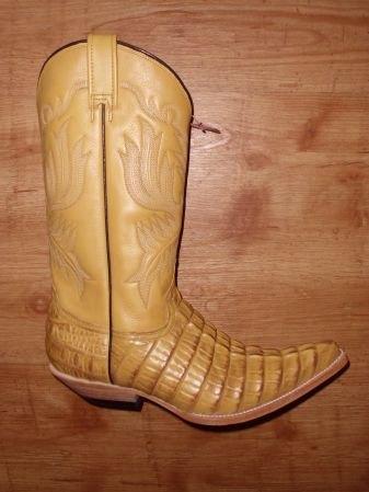 Mezcalero Cowboystiefel Kroko butter-antik