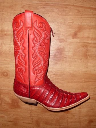 Mezcalero Cowboystiefel Kroko rot