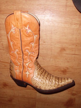 Rancho Boots Gr. 38 Imitat. Straussleder
