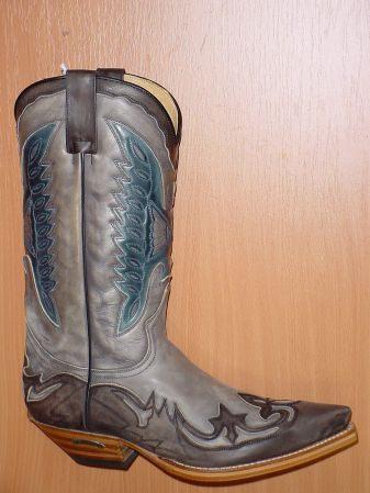 Sendra Boots dunkelgrau hellgrau blau