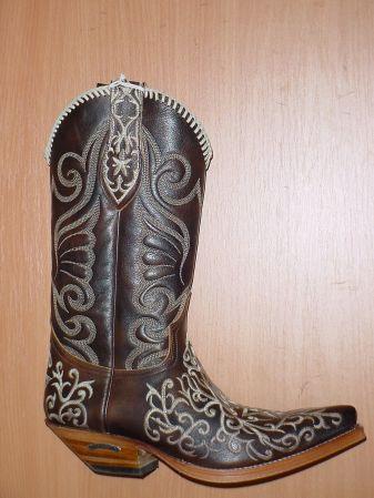 Sendra Boots gestickt antikbraun
