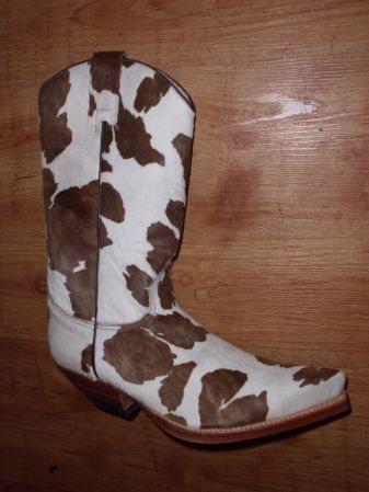 Sendra Boots Pony braun weiss