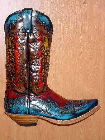 Sendra Boots rot blau gelb orange