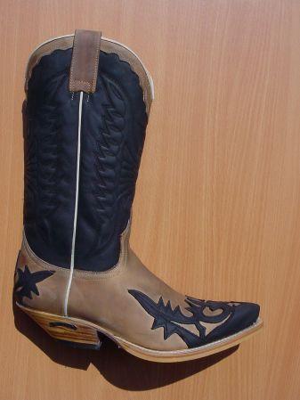 Sendra Boots schwarz/hellbraun