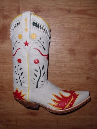 Sendra Boots Skull weiss