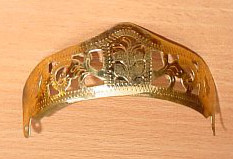 Stiefelhacken gold