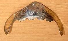 Stiefelhacken silber